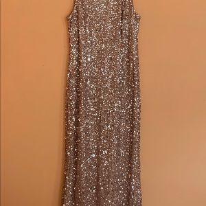 Formal hi low sequin gown